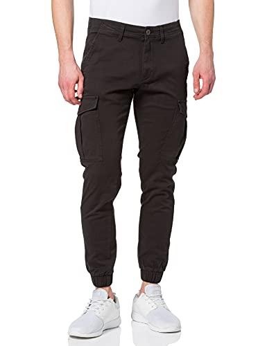 JACK & JONES Herren JJIMARCO JJJOE Cuffed AKM Black Jeans, 31W / 32L