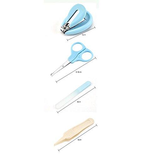 Baby Nagelschere, OYD 4 Stück Baby Nagelknipser Safety Grooming Kit Nagelpflege Maniküre Set mit Schere, Pinzette und Nagelfeile für Neugeborene, Babys und Kinder - 7