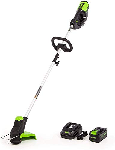 Greenworks 40V 12 inch Cordless String Trimmer, 3AH Battery and Charger Included ST-120