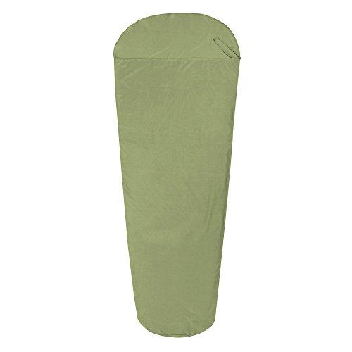10T Schlafsack BW INLET MG Hüttenschlafsack 225x90 cm Mumienschlafsack Inlay 100% Baumwolle Grün