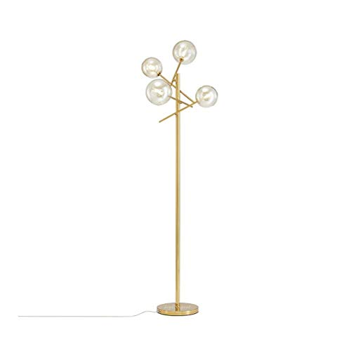 CLJ-LJ Lámpara de pie de metal para salón, dormitorio, lámpara de cristal con forma de esfera Villa