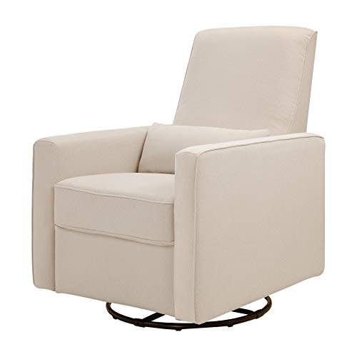 DaVinci Piper Upholstered Recliner and Swivel Glider, Cream