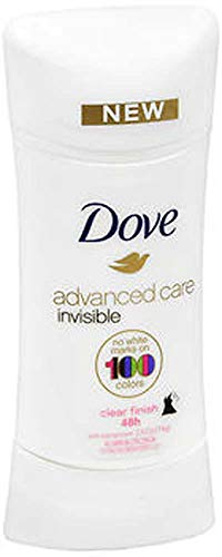 Dove Invisible Advanced Care Antiperspirant Deodorant, Clear Finish, 2.6 Oz (Pack of 2)