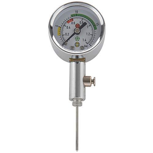 Heritan Medidor de presión de bola Bola Herramienta de medición de presión Baloncesto Fútbol Voleibol Barómetro