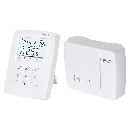 EMOS Termostato inalámbrico OpenTherm, regulador de Temperatura Digital programable para calefacción o Aire Acondicionado, 9 programas, protección contra heladas, ON-Off