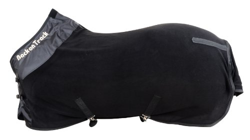 Back on Track Therapeutic Fleece Supreme Rug for Horses, 78-Inch, Black