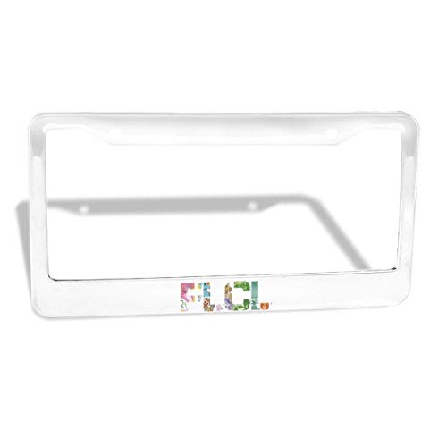 GTGTH FLCL Newest Thick Aluminum Alloy Polish Mirror License Plate Frames, Car Licence Plate Holder Covers for US Standard (2 Pcs 2 Holes Wide Silver)