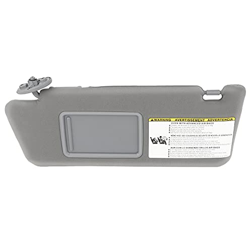 SCITOO Left Driver Side Gray Sun Visor Assembly fit for 2005 2006 2007 2008 2009 2010 2011 2012 2013 2014 for Toyota Tacoma without Sunroof(74320-35C10-B0,74320-04181-B1)