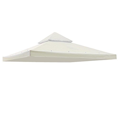 Double Tier 10x10ft Ivory Summer Breeze Soft Top Gazebo Replacement Canopy for Events Wedding Parties Craft Shows Music Festivals