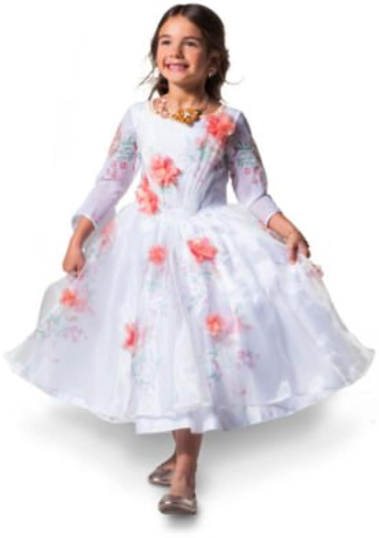 Costume Belle Deluxe bianco Celebrazione per i bambini, bella e la Besteia, la raccolta, il formato 5-6 anni