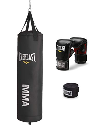 Everlast 70-Pound MMA Heavy-Bag Kit , Black