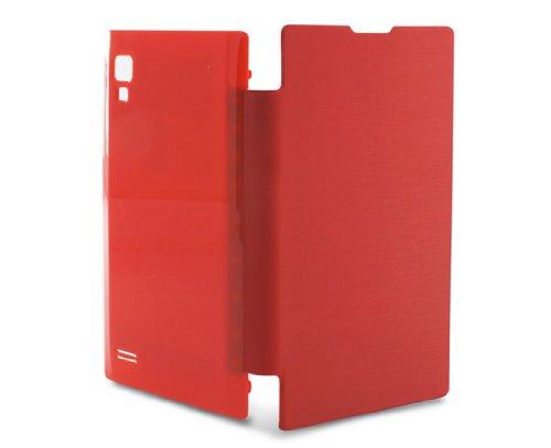 Ksix B4524FU80RJ - Funda folio con batería integrada para LGOptimus L9 P760, rojo