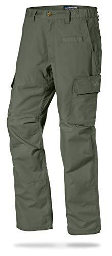LA Police Gear Mens Urban Ops Tactical Cargo Pants - Elastic WB - YKK Zipper - OD Green - 34 x 32