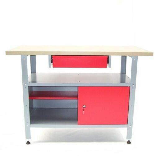 Werkbank Werkstatttisch Werktisch 06257 Schublade Holzarbeitsplatte 120x 60x85cm AWZ