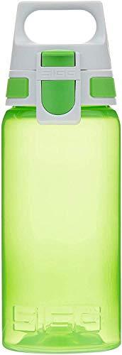 Sigg Viva One Green Cantimplora Infantil (0.5 L), Botella Transparente sin sustancias nocivas y con Tapa hermética, cantimplora para niños para Usar con una Mano