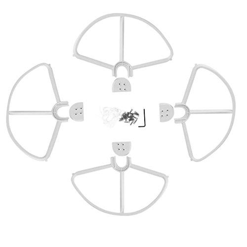 vhbw Rotor Schutz Abdeckung weiß für Drohne Multicopter Quadrocopter DJI Phantom 2, 2 Vision, 2 Vision + Plus, 3 Advanced, 3 Professional, FC40