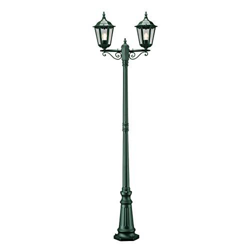 Konstsmide Firenze 7234-600 Standleuchte / B: 25cm T: 63cm H: 220cm / 2x100W / IP43 / lackiertes Aluminium / grün