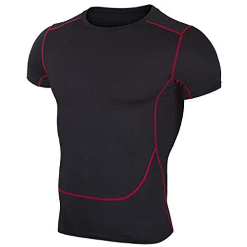 Berimaterry Camisetas de Fitness Compresión Ropa Deportiva Manga Corta Hombre para Gimnasio Ejercicio Hombre Camisetas Deportivas Dry Fit Shirt Tshirts T-Shirt Sport Tops Raglán Playera Térmica