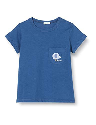 United Colors of Benetton T-Shirt Camiseta de Tirantes, Azul (Ensign Blue 217), 68 para Bebés