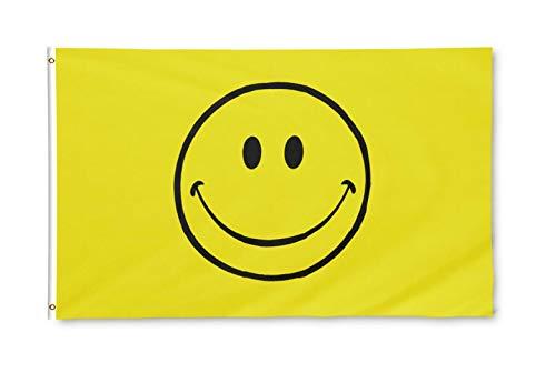 Star Cluster 90 x 150 cm Glückliche Lächeln Flagge/Happy Smiley Flag (Smile)