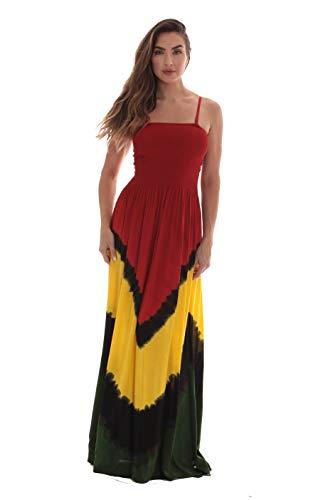 Riviera Sun Rasta Long Smocking Dresses for Women 21932B-M