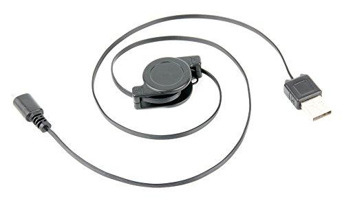 DURAGADGET Cable MicroUSB Retráctil para Tablet SPC Glee 10.1 Quad Core Pasar Sus Datos Al PC