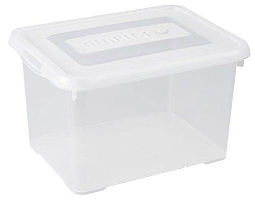 Allibert Aufbewahrungsbox Praktische mit klick Deckel 35L in transparent