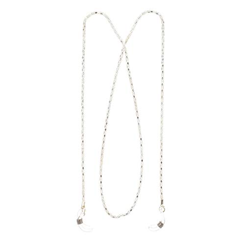 Nortongrace Multifunktions -Multicolor Sonnenbrille Lesebrille Brillen Brillen Neck Cord Strap Metal Chain Holder(None White)