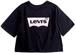 Camiseta Levi's Light Bright de Manga Corta Negra para Niña