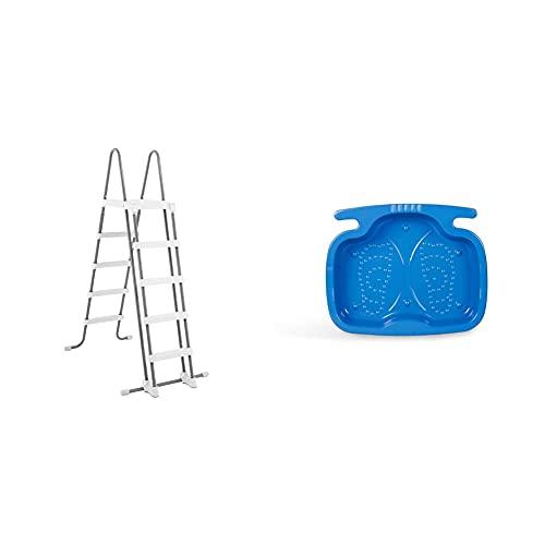 Scopri offerta per Intex 28074 Scaletta Doppia con Gradini Staccabil, l.2, Grigio, 132cm & 29080 Vaschetta Lavapiedi, Blu, 45.72 x 55.88 x 8.89 cm