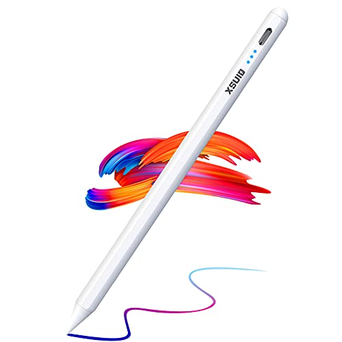 Stylus Pen for iPad(2018-2021), Active Pen with Palm Rejection, Power Indicator, Magnetic,Tilt, Apple iPad Pencil 2nd Generation for iPad 8th 7th 6th Gen, iPad Air 4th 3rd, iPad Mini 5th Gen, iPad Pro