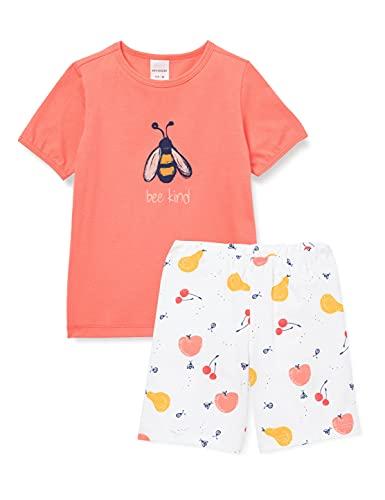 Schiesser Mädchen Schlafanzug kurz Pyjamaset, Koralle, 116