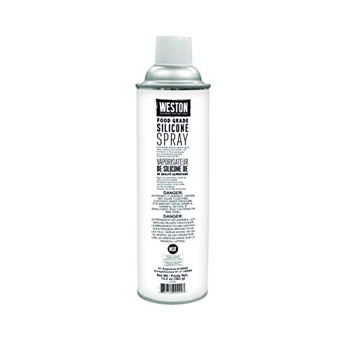 Weston Food Grade Silicone Non-Stick Spray for Lubrication and Storage, 13.5 oz Can ,