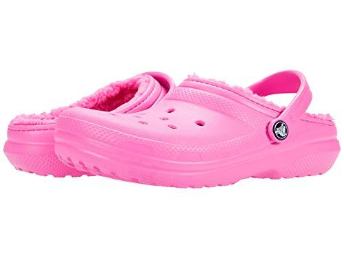 Crocs Classic Lined Clog K, Zuecos Unisex niños, Rosa (Electric Pink), 32-33 EU