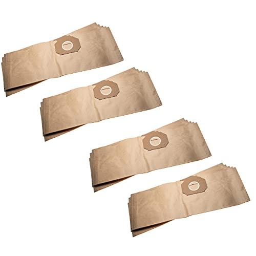 vhbw 20x Staubsaugerbeutel Ersatz für Thomas 201, 787101 für Staubsauger - Papier, 63,3cm x 22cm, braun