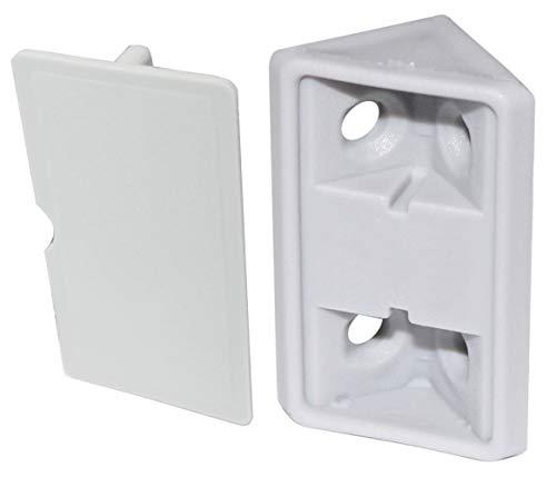 AERZETIX - 50x Escuadras de ángulo Racor Refuerzo - Plástico - Gris - Para ensamblaje de Muebles Panel - 27/42/19mm - C44392