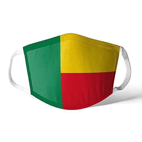 M&schutz Maske Stoffmaske Klein Afrika Flagge Benin/Beninese Wiederverwendbar Waschbar Weiches Baumwollgefühl Polyester Fabrik