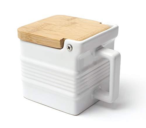 RSVP Stoneware Salt Box - White