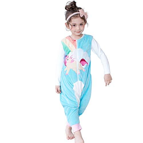Saco de Dormir con Pies para Niños 1.5 Tog Bebé Bolsa Dormida Cremallera Frontal sin Mangas Peleles para Dormir, 5-7 Años