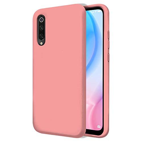 TBOC Funda para Xiaomi Mi 9 SE [5.97 Pulgadas]- Carcasa Rígida [Rosa] Silicona Líquida Premium [Tacto Suave] Forro Interior Microfibra [Protege la Cámara] Antideslizante Resistente Suciedad