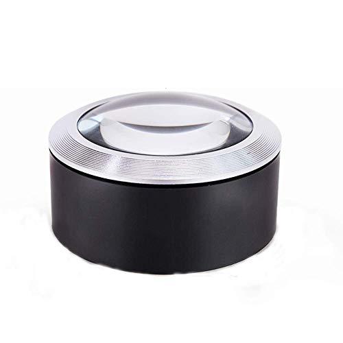 WFAANW Vidrio con luz lupa de escritorio de metal de vidrio de cristal de escritorio portátil vidrio 2X 4X 25x ligero portátil de cristal