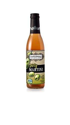 Powell & Mahoney Craft Cocktail Mixers - Dirty Martini - NA Cocktail Mix - Free from Artificial Sweeteners and Flavors - 12.68 oz - Non-GMO