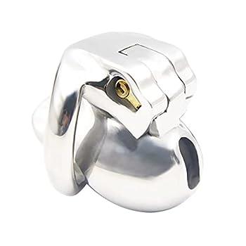 Metal Durable Stainless Steel Chàṣtīty LǒckḌǒwn Chàṣtǐty Càgě Pĕnis Chàstity Lŏck Kit Male Adjustable Summer for Men Steel Chāstity Device for Men Pēnis Sunglasses Shirt Party Undërwëar M-45mmRing-