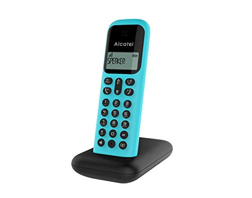 professionnel comparateur Alcatel D285 Solo Noir et Turquoise.Téléphone sans fil de bureau, haut-parleur, écran confortable choix