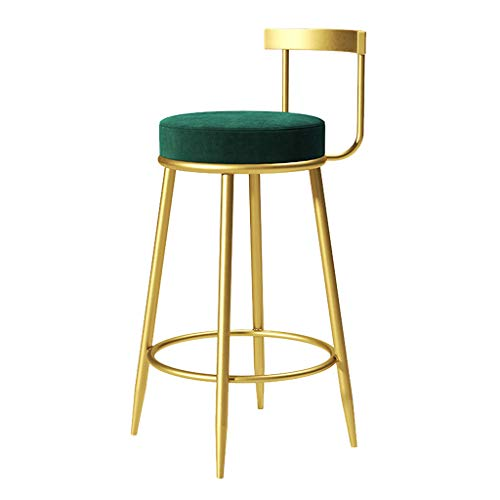 Industrial Velvet Seat Bar Stool for Bars, Bistro Patio & Cafe, Barstool Wrought Iron 65/75CM Bar Height Metal Bar Stools, Best Home Garden Chairs