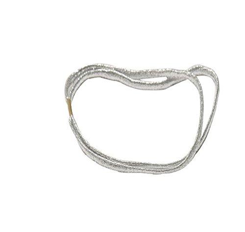 Argento elastico doppio capelli Head band tiara donne Fashion