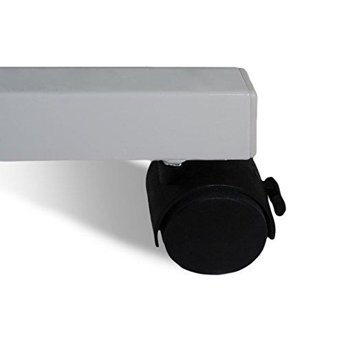 Moderationstafel Filz | klappbar | mit Rollen | 120x150cm | Farbe wählbar (grau) - 5