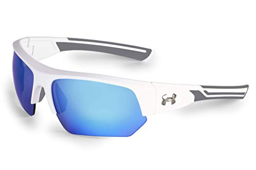 Under Armour Unisex's Ua Big Shot Sunglasses, Blue, X-Large