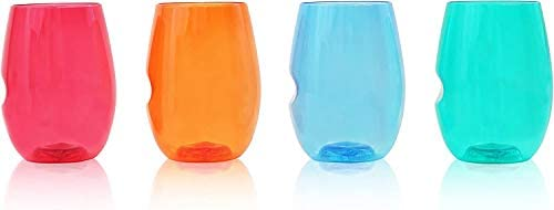 Govino Flexible Shatterproof Jewel Tone Wine Glasses 16 ounce Set of 4 Featuring The Wine Savant product image