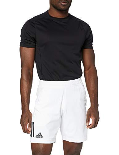 adidas Club Pantalones Cortos, Hombre, Blanco/Negro, L